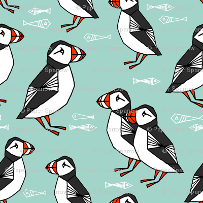 Puffin - Pale Turquoise