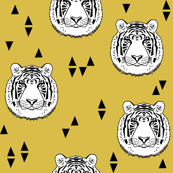 Tiger - White/Mustard by Andrea Lauren