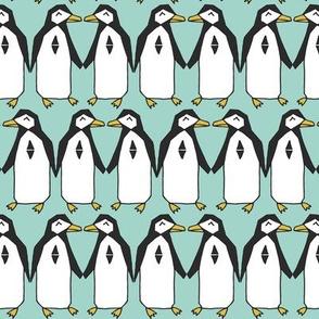 Penguin Dance - Pale Turquoise