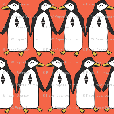 penguins // orange penguin pingu bird birds winter orange