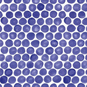 Felt Dots -Purple-Blue