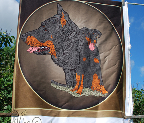 Beauceron garden flag