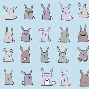 Bunnies (blue)