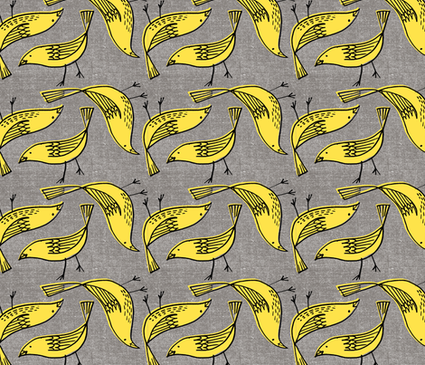Canary Canvas fabric by anda on Spoonflower - custom fabric