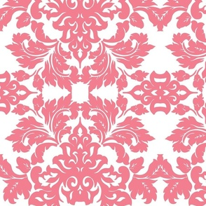 Pink Damask Wallpaper