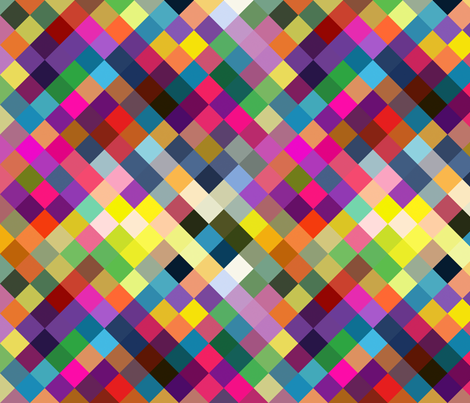 Colorblock diamonds fabric by creativeqube_design on Spoonflower - custom fabric