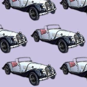 mauve vintage sports car1