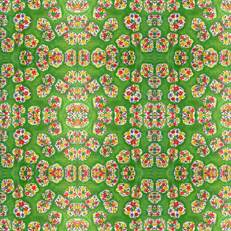 Green Spring Bouquets fabric by patches2pearls on Spoonflower - custom fabric