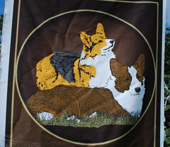 Welsh Corgi garden flag
