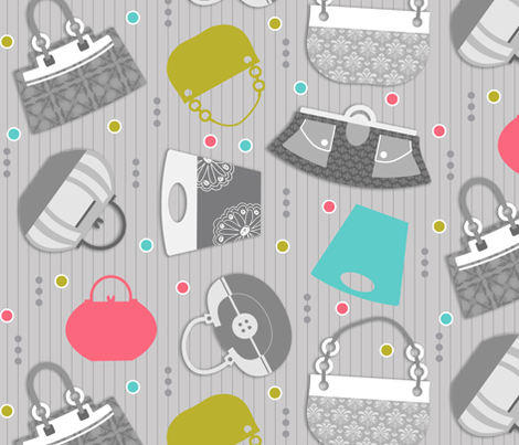 Purses, Bags, and Totes! Oh My! fabric by dianef on Spoonflower - custom fabric
