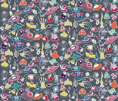 Fascinators fabric by elramsay on Spoonflower - custom fabric