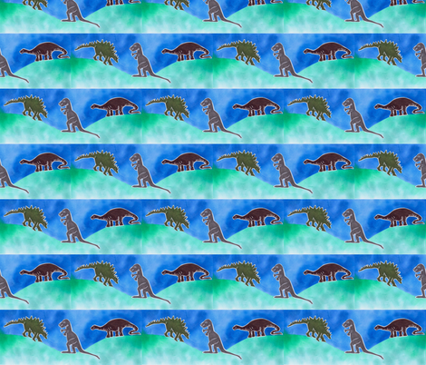 dinosaurridge fabric by timaroo on Spoonflower - custom fabric