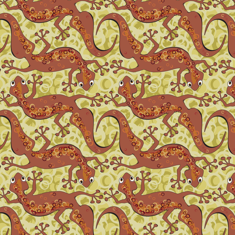 Gecko Scuttle fabric by bippidiiboppidii on Spoonflower - custom fabric