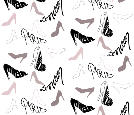 Stylish Stilettos fabric by rebeccajean on Spoonflower - custom fabric