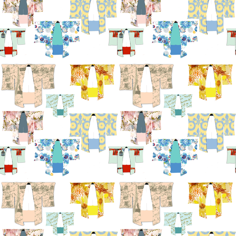 Japanese Kimonos fabric by karenharveycox on Spoonflower - custom fabric