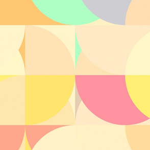 Upsized pastel segments