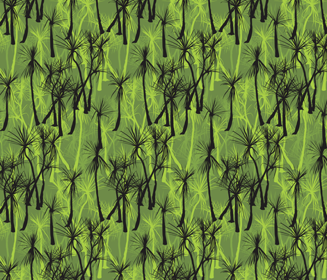 Green pick fabric by bippidiiboppidii on Spoonflower - custom fabric