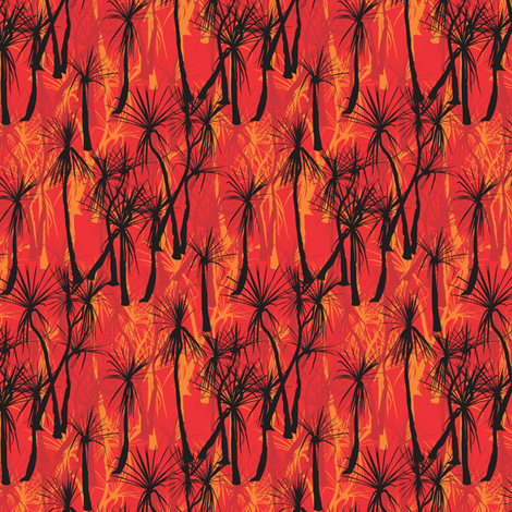 Pandanus fire fabric by bippidiiboppidii on Spoonflower - custom fabric