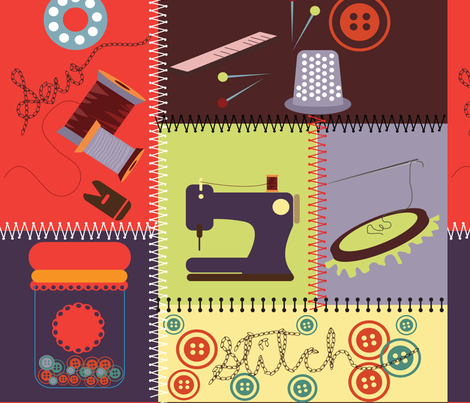 sew-fashion fabric by karigari on Spoonflower - custom fabric