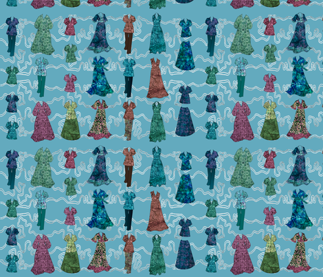 Batik Fashions - check swatch view to see fabric textures fabric by mina on Spoonflower - custom fabric