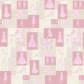 Pink fashion cheater quilt