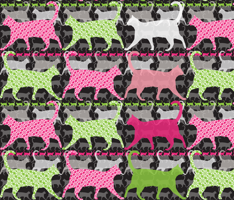 Catwalk Purrfect fabric by paula's_designs on Spoonflower - custom fabric