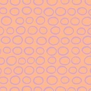 Wobbly Peas (lilac, tangerine flip)