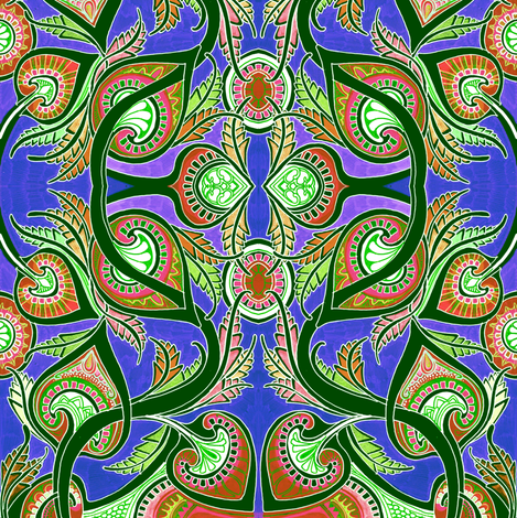 Take That You Paisley Peacock fabric by edsel2084 on Spoonflower - custom fabric
