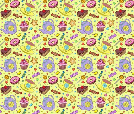sweeties fabric by kiyanochka on Spoonflower - custom fabric