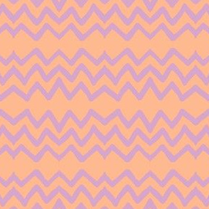 Zig Zag (lilac, tangerine, salmon)