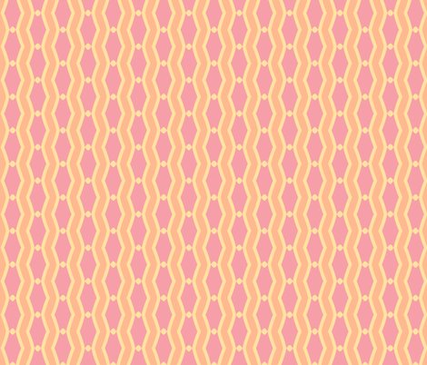 mod wallpaper 202-(blush, sunshine, tangerine fabric by pattyryboltdesigns on Spoonflower - custom fabric