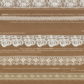 brown paper lace   fashion words