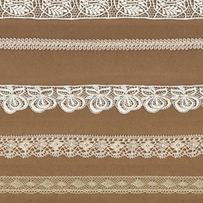 brown paper lace