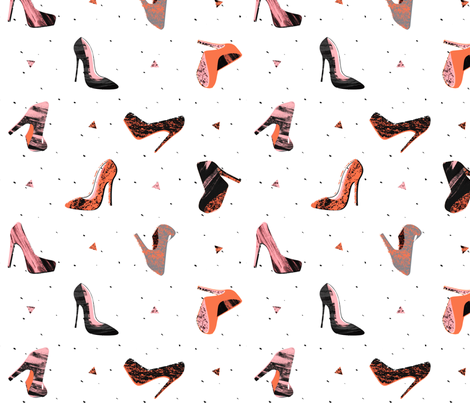 Cute Shoes fabric by lsk235 on Spoonflower - custom fabric