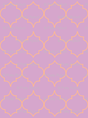 turkish tile (tangerine, lilac)