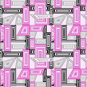 Abstract Geometrics - Pink