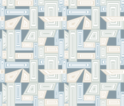 Abstract Geometric - soft pastels fabric by madex on Spoonflower - custom fabric