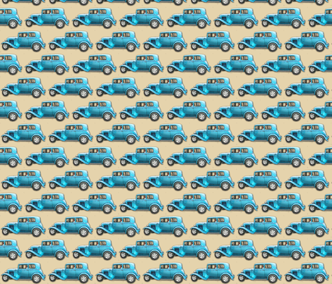 vintage car 15-small fabric by koalalady on Spoonflower - custom fabric