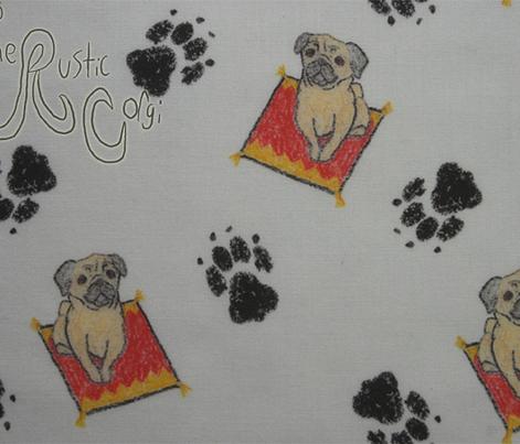 Pug on a rug