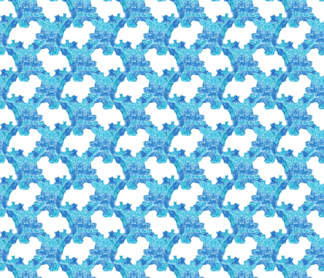 Terrier tie dye - blue