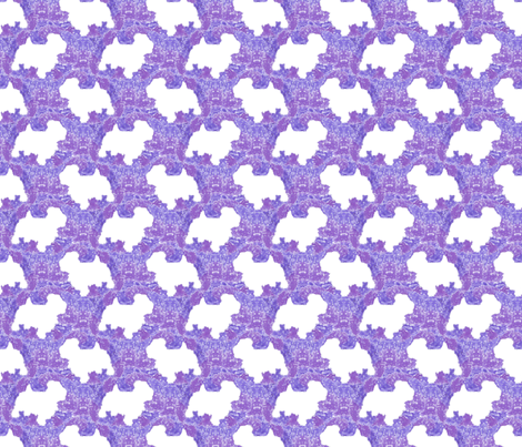 Terrier tie dye - purple