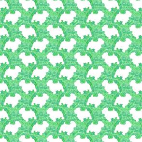 Terrier tie dye - green