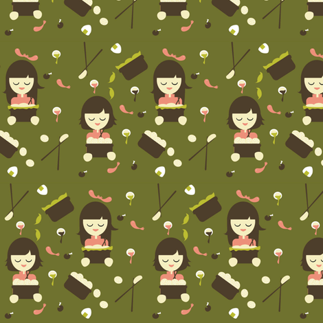 Dim Sum for Everyone fabric by kiwicuties on Spoonflower - custom fabric