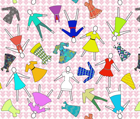 I love fashion fabric by su_g on Spoonflower - custom fabric