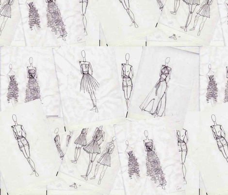 Fashion Sketches fabric by megandares on Spoonflower - custom fabric