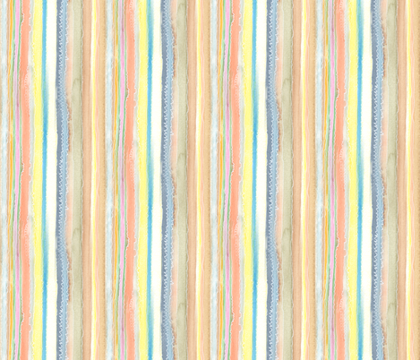 Scribbled Stripes small fabric by wiccked on Spoonflower - custom fabric