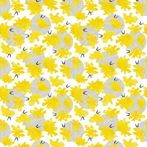 Yellow Hello fabric by demouse on Spoonflower - custom fabric