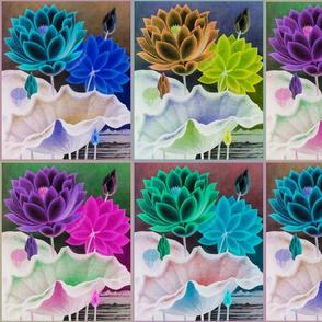 water flower quilt invert
