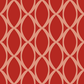 Scarlet Lattice Tie