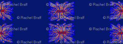 nepali flower stripes dark blue